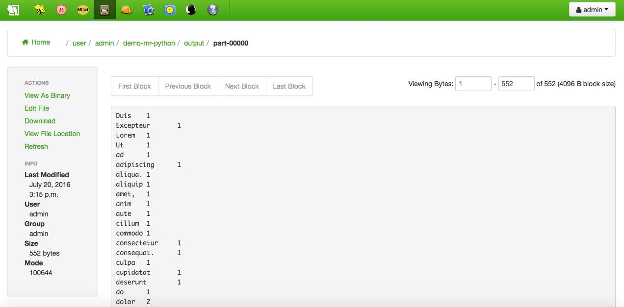 Hadoop streaming with Hue - FIWARE-IOT-Stack